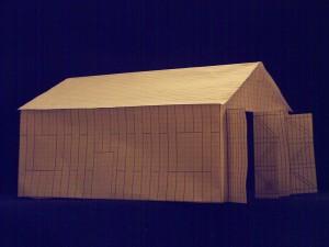 Papiermodell der Grund-halle 1
