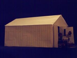 Papiermodell der Grund-halle 2